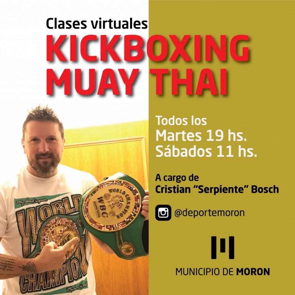 El Municipio de Morón lanza un curso online de KickBoxing  Muay Thai