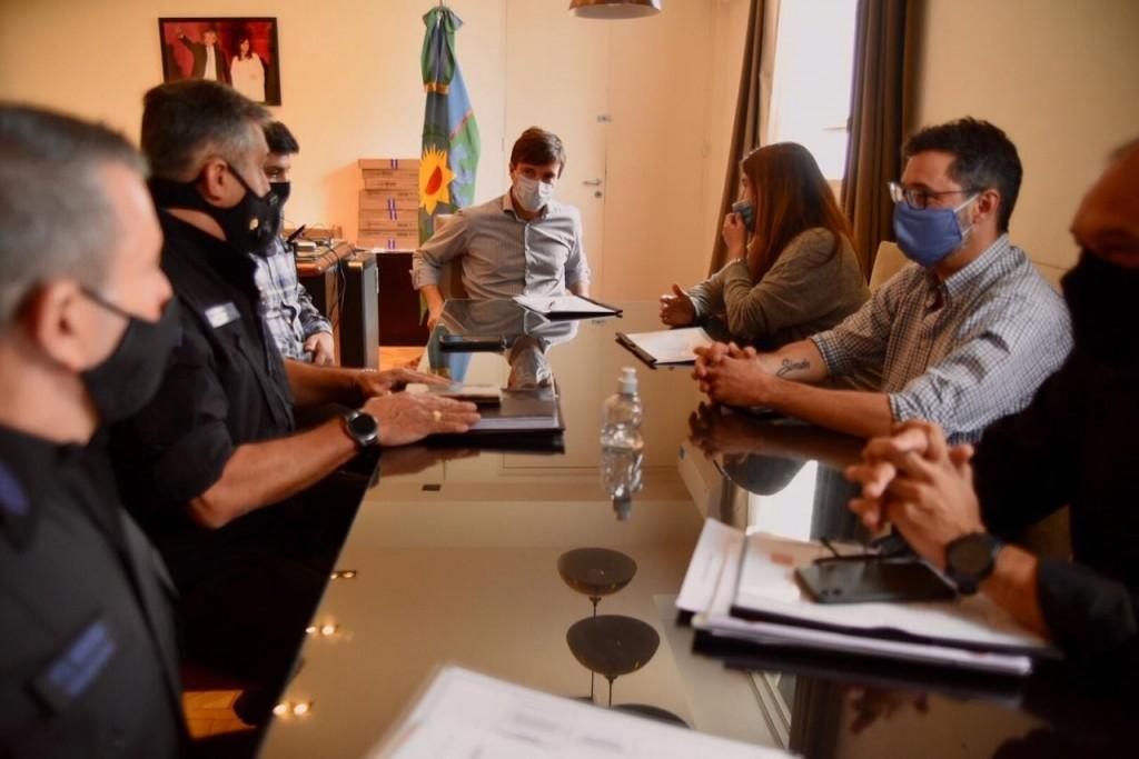 Lucas Ghi se reunió con Cecilia Rodríguez para articular el Plan de Fortalecimiento de Seguridad en el distrito
