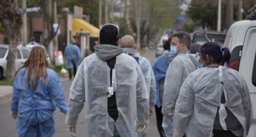 Operativo de detección temprana de coronavirus en el barrio Santa Rosa