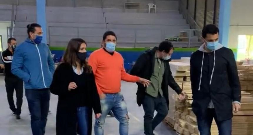 Inés Arrondo recorrió el Polideportivo municipal de General Rodríguez