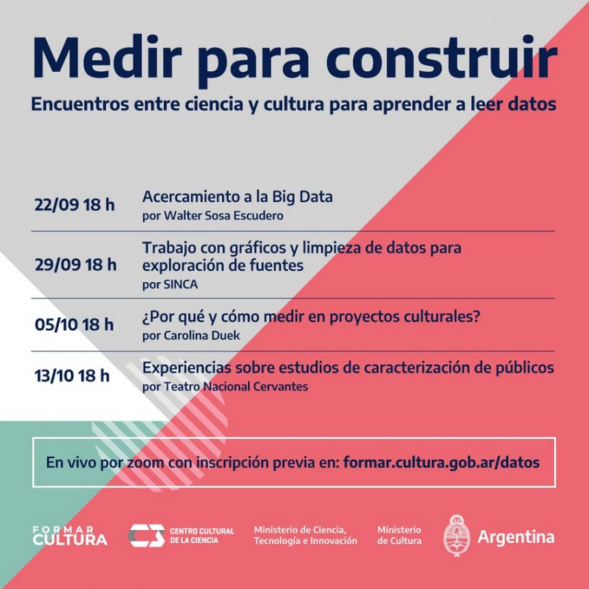 """""""Medir para construir"""": encuentros entre ciencia y cultura para aprender a leer datos"""
