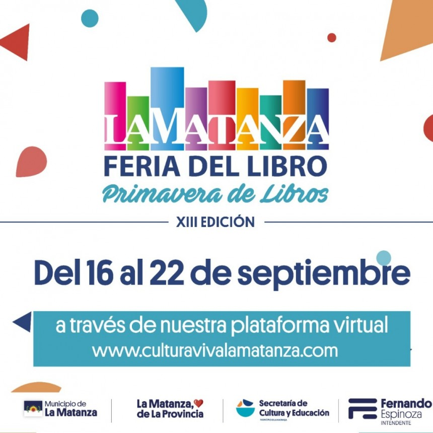 """XIIIª Feria Municipal del Libro de La Matanza: """"Primavera de Libros"""" – Edición digital"""