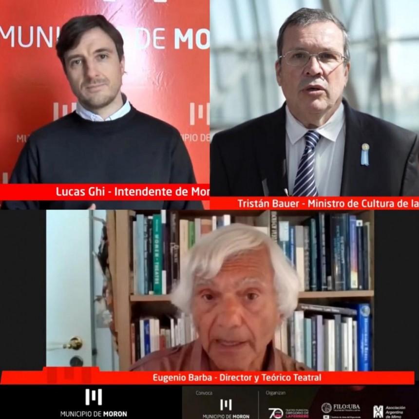 Lucas Ghi y Tristán Bauer participaron de la apertura del 1° Congreso Internacional Virtual de Teatro Morón 2020