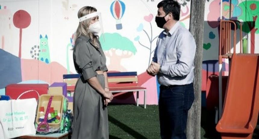 Fabiola Yañez y Arroyo recorrieron un centro de desarrollo infantil en Luján