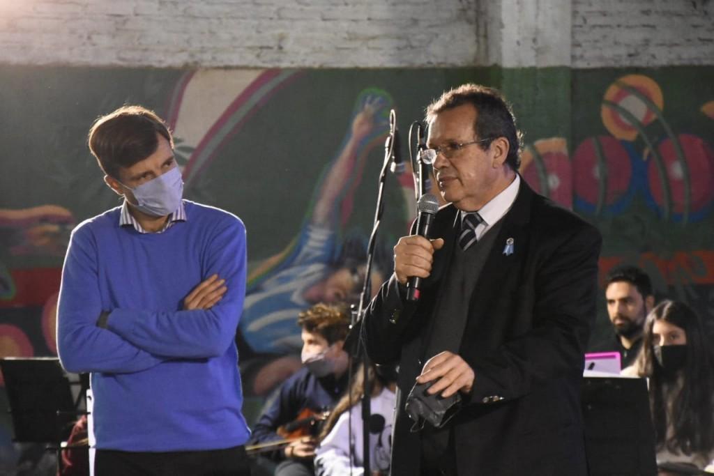 Lucas Ghi y Tristán Bauer participaron del cierre del Mes de las Infancias en Morón