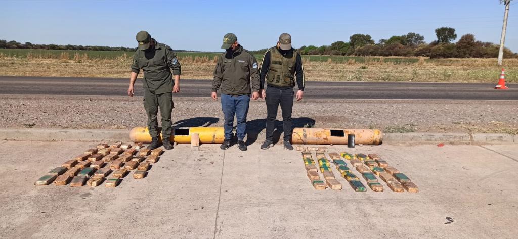 Gendarmería incautó 148 kilos de cocaína y detuvo a cinco miembros de la organización narcotraficante