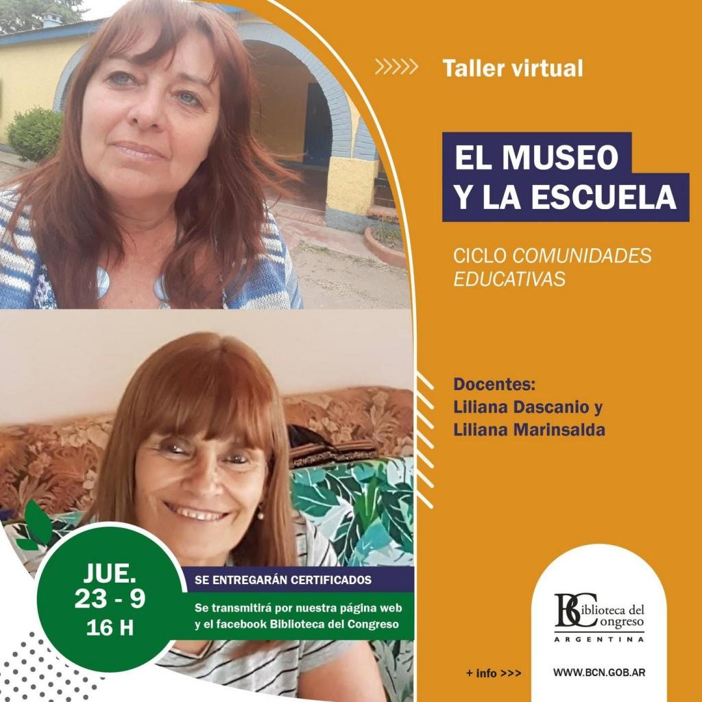 """Taller virtual """"El museo y la escuela"""" en la Biblioteca del Congreso de la Nación"""