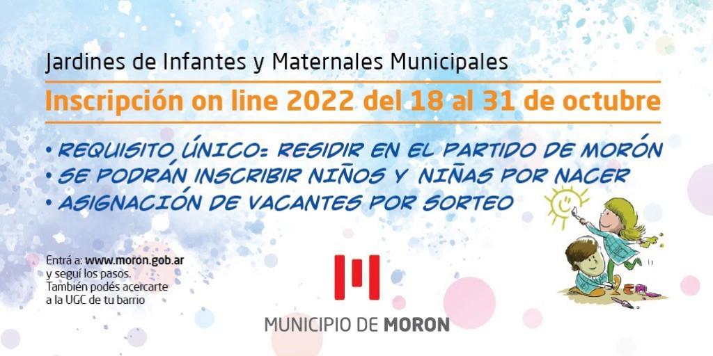 El Municipio de Morón abrirá la inscripción 2022 para sus jardines de infantes