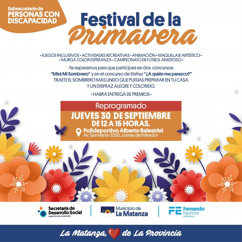 La Matanza: Se reprograma el Festival de la Primavera.