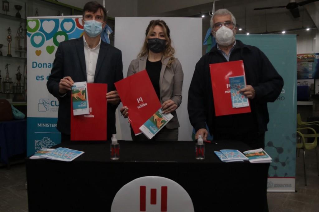 El Municipio de Morón firmó un convenio para promover la donación de sangre y órganos