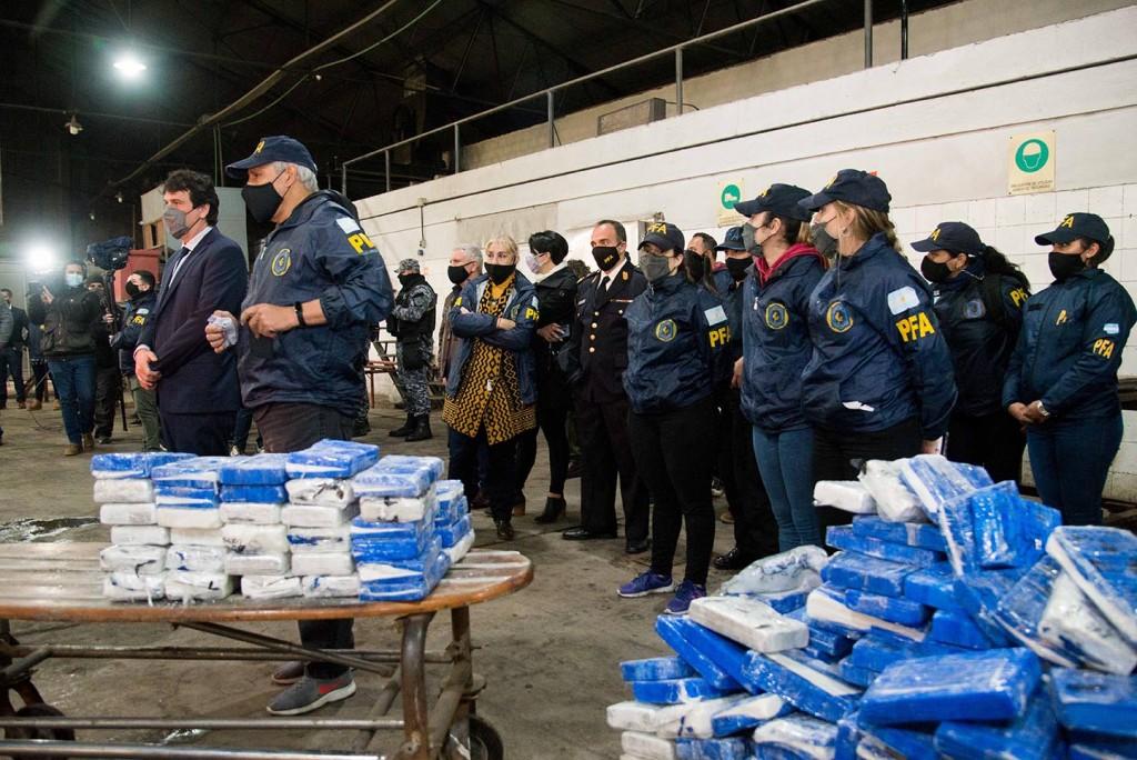 El Ministerio de Seguridad incineró cerca de 800 kilos de estupefacientes