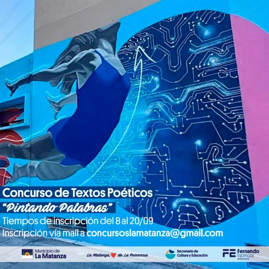 """La Matanza lanza el nuevo concurso  de literatura """"Pintando Palabras"""""""