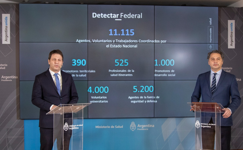 Continúa el trabajo del DETECTAR Federal para intensificar la respuesta a la pandemia