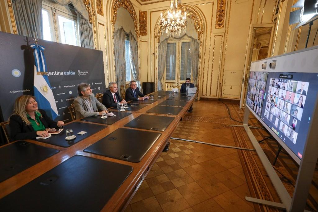 Alberto Fernández participó de un encuentro por videoconferencia de la Corriente Nacional de la Militancia