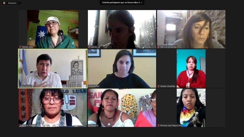 Daniel Arroyo dialogó con el Movimiento de Mujeres Indígenas