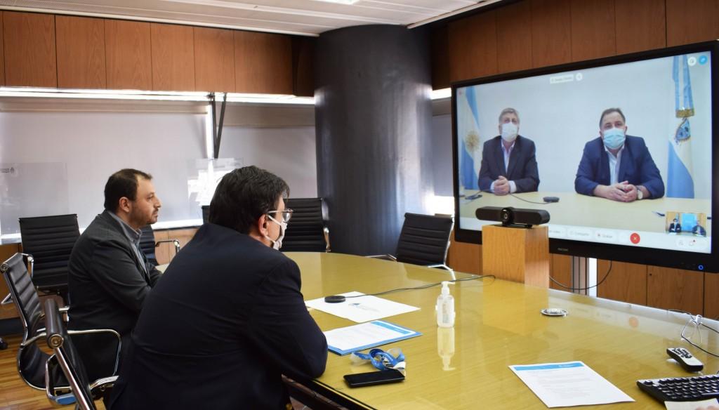 Claudio Moroni mantuvo una reunión virtual con Sergio Ziliotto e intendentes de La Pampa