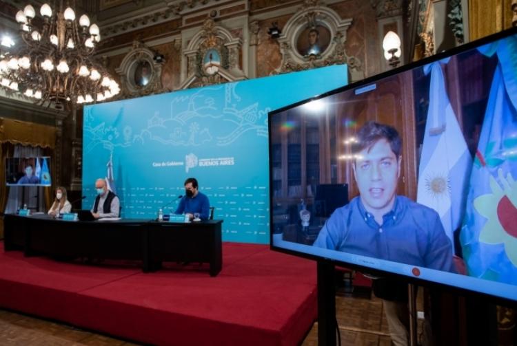 """Kicillof: """"Estamos enfrentando la pandemia con un Estado presente, un Gobierno protector y un pueblo solidario"""""""