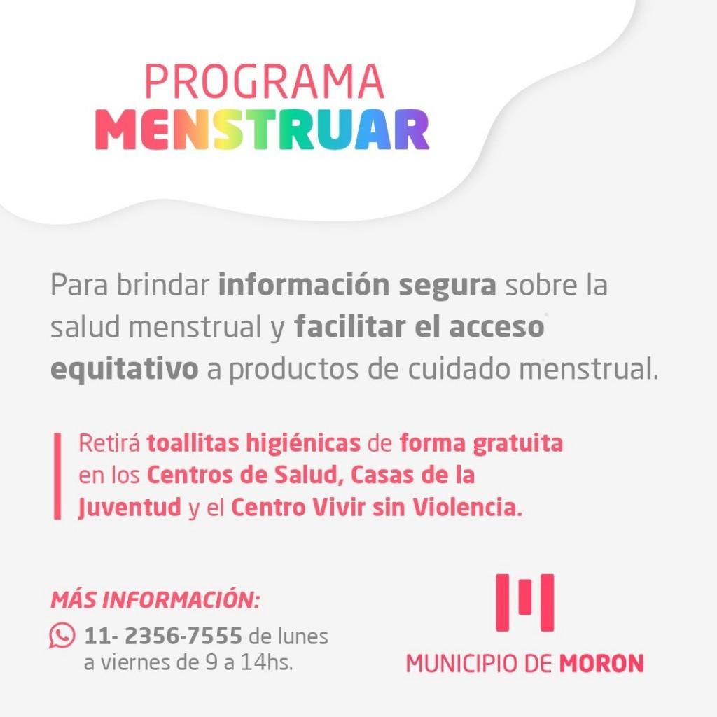 Avanza la aplicación del programa menstruar en todos los CAPS del distrito