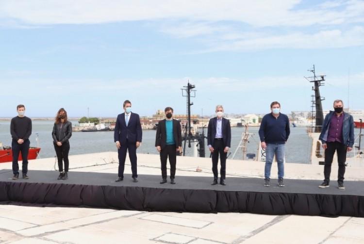 Kicillof suscribió acuerdos con el Gobierno nacional para financiar el dragado del puerto de Mar del Plata y mejorar la logística portuaria