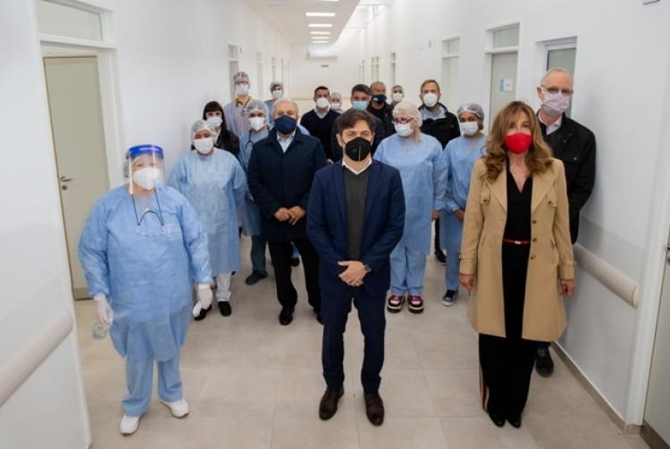 Kicillof inauguró un nuevo centro de salud y una sucursal del Banco Provincia en Ezeiza