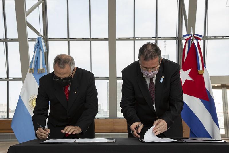 Se firmó un Programa Ejecutivo de Cooperación Cultural entre Cuba y Argentina