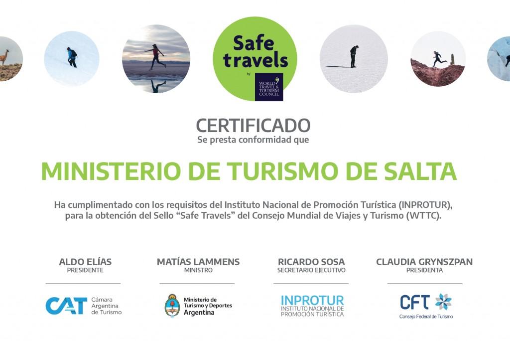 Salta obtiene el Safe Travels Stamp