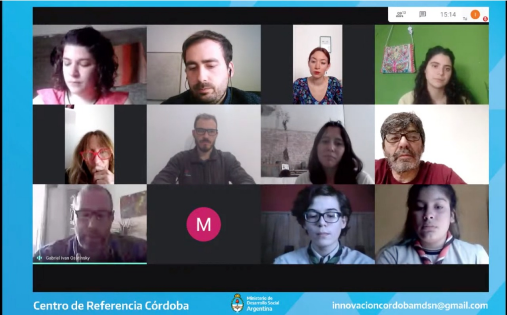 """Primer conversatorio virtual """"Juventudes Innovadoras en Córdoba"""""""
