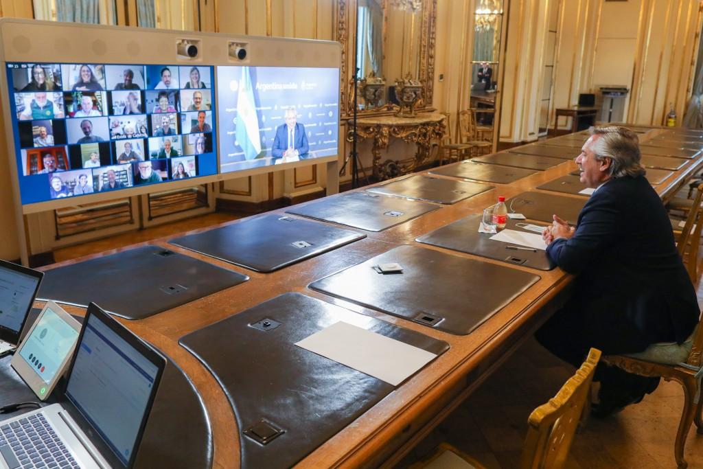 El Presidente participó de la celebración virtual por los 90 años de Estela de Carlotto