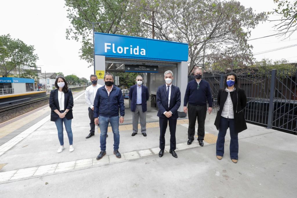 Meoni inauguró la renovada estación Florida, en Vicente López: