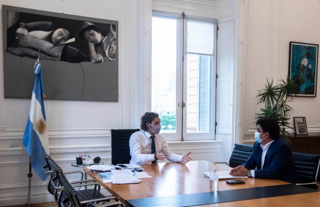 Fernando Espinoza se reunió con Cafiero para coordinar obras del desarrollo estratégico de La Matanza