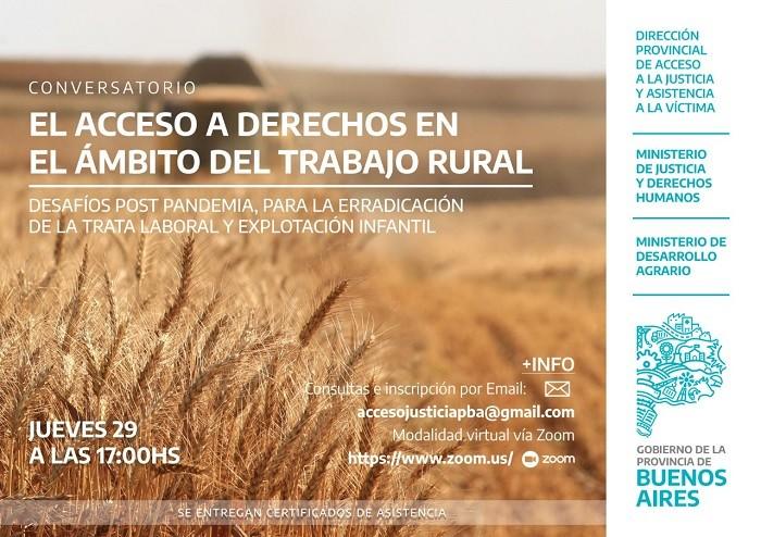 Conservatorio sobre el acceso a derechos humanos en el ámbito del trabajo rural