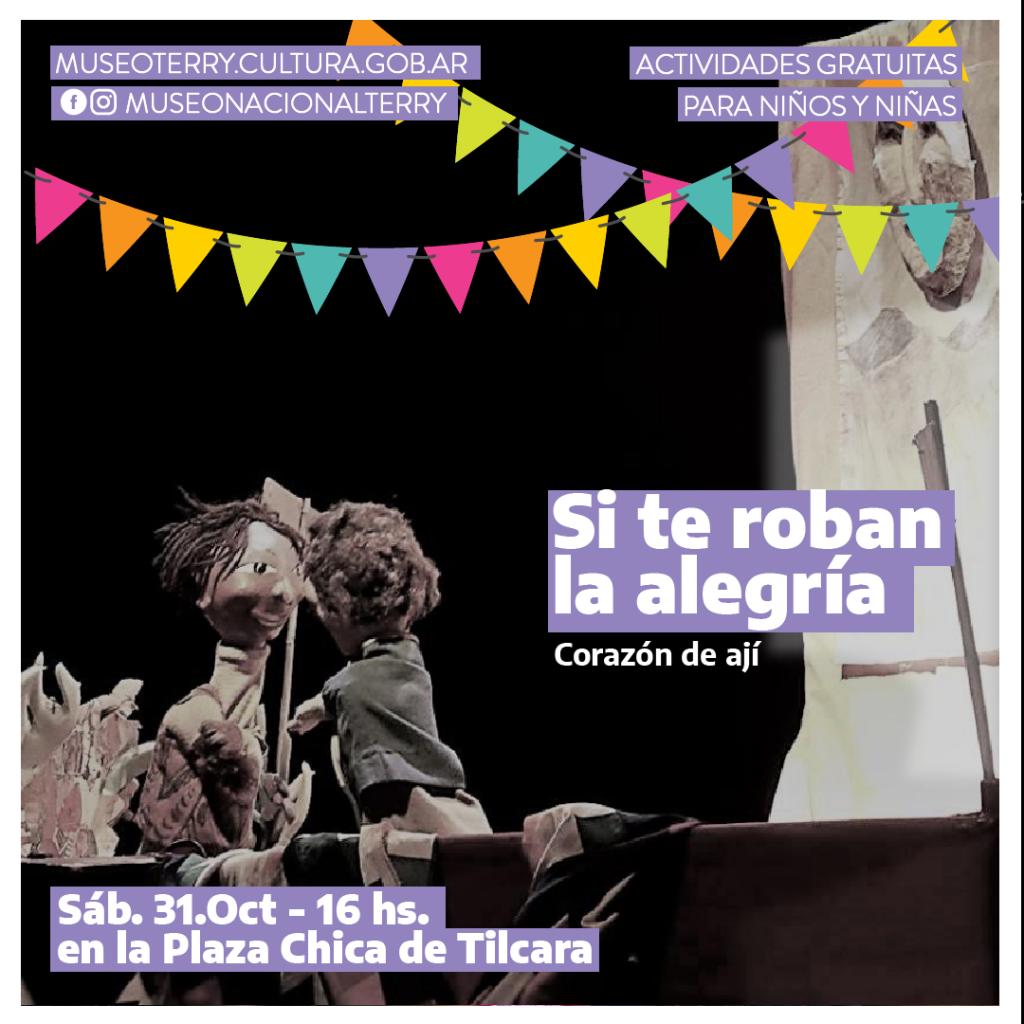 Continúa el ciclo Museos abiertos al cielo: show de títeres en el museo de Tilcara