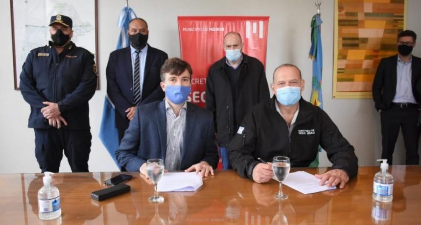 Ghi y el ministro de Seguridad bonaerense Sergio Berni inauguraron las nuevas instalaciones de la UTOI en el Parque Industrial DECA