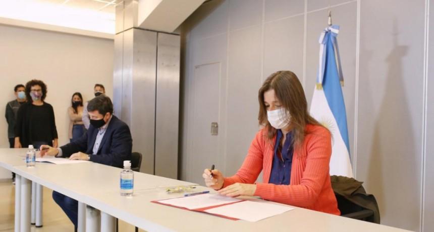 El Ministerio de Desarrollo Social firmo un convenio de cooperación con el Ministerio de Seguridad.