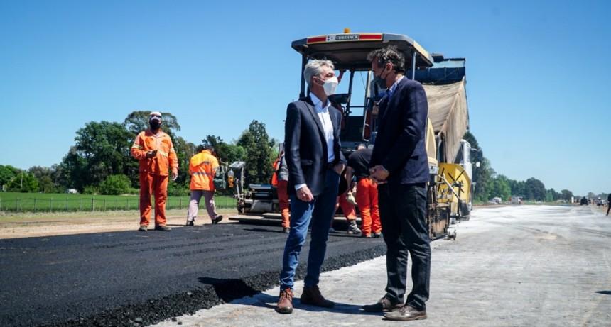 El Ministro de Transporte Mario Meoni recorrió las obras que se están haciendo en Junin