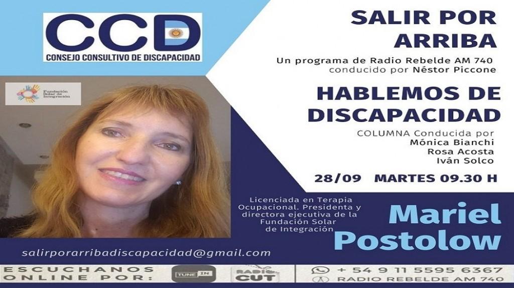 Entrevista a Mariel Postolow, de Fundación Solar de Integración en Hablemos de discapacidad
