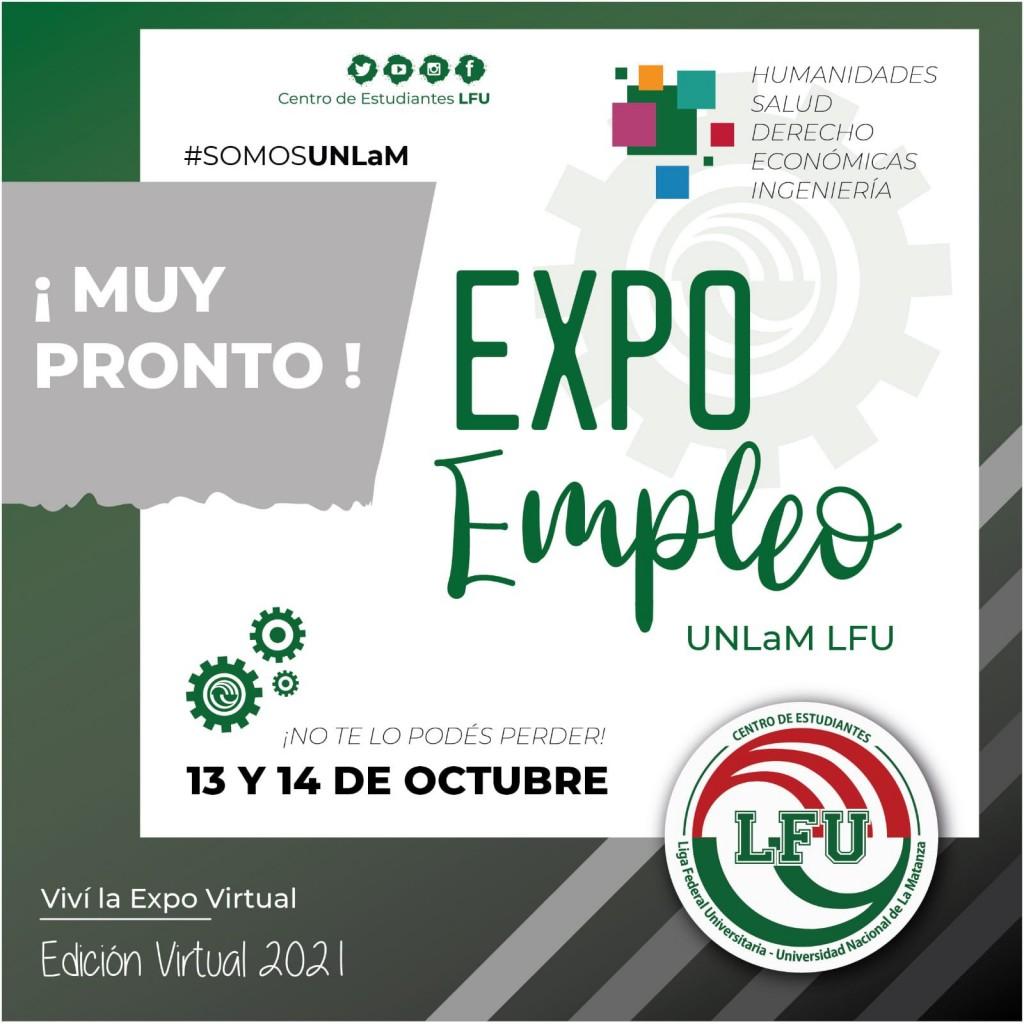 Expo empleo virtual 2021 en la UNLaM