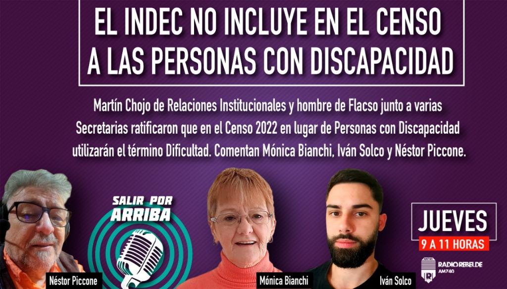 EL INDEC NO INCLUYE EN EL CENSO A LAS PERSONAS CON DISCAPACIDAD