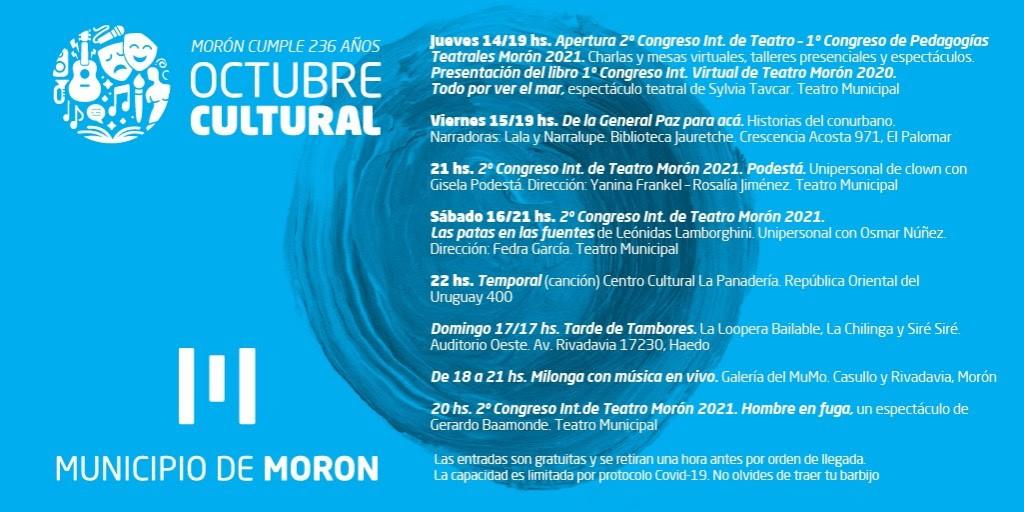 Morón: Continúan las actividades de Octubre Cultural