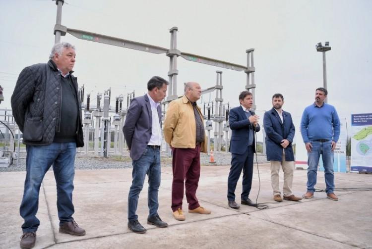 Esta en marcha la nueva línea de alta tensión que conecta Santa Clara del Mar con Mar del Plata
