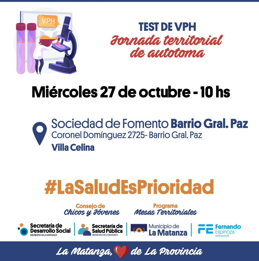 La Matanza: Jornada VPH en Villa Celina