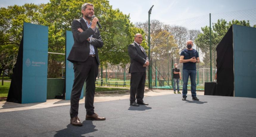 """Manzur y Lammens entregaron subsidios a clubes deportivos de la Ciudad de Buenos Aires en el marco del programa """"Clubes en Obra"""""""