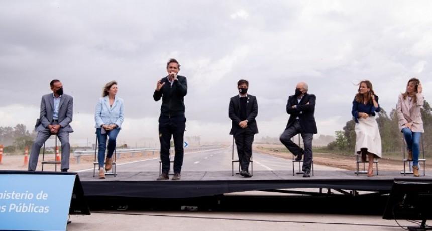 Axel Kicillof y Gabriel Katopodis inauguraron un tramo de la Autopista Presidente Perón