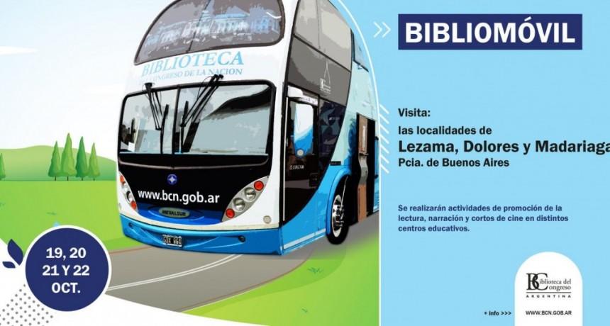El Bibliomóvil de la Biblioteca del Congreso de la Nación visita Lezama, Dolores y Madariaga.