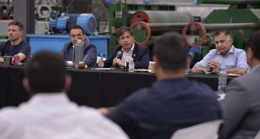 Axel Kicillof se reunió con empresarios en el Parque Industrial y Tecnológico de Florencio Varela
