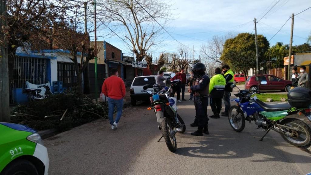 Operativo del Ministerio de Seguridad para prevenir las picadas de motos en Moreno