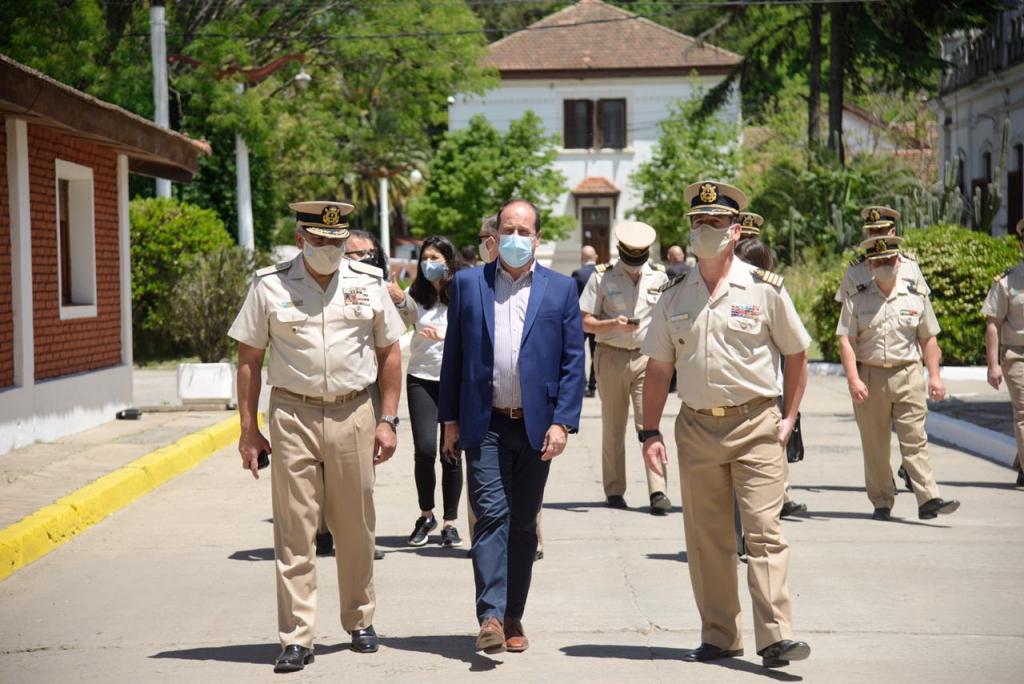 Visita alos Institutos de Formación de la Prefectura Naval Argentina en Zárate por parte del Secretario de Seguridad