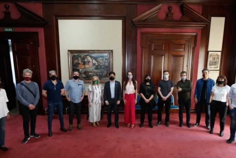 Kicillof y Costa recibieron a representantes del sector teatral