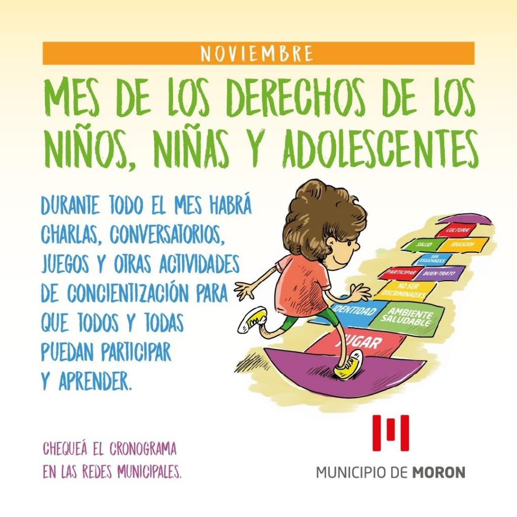 Morón brindará conversatorios y actividades para niños, niñas y adolescentes durante todo el mes de noviembre