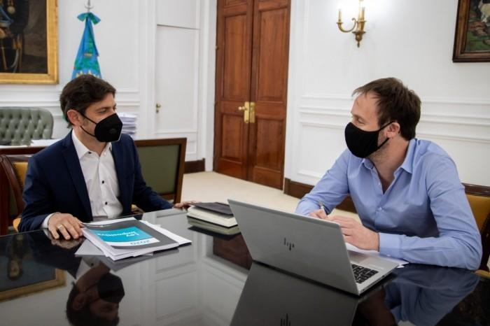 Kicillof y Pablo López se reunieron para repasar los ejes del proyecto de Ley de Presupuesto e Impositiva 2021
